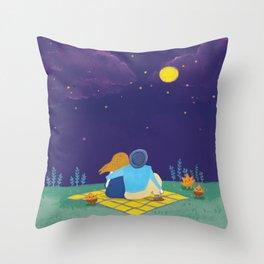 an autumn night Throw Pillow