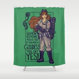 Ghostbuster Goddess Shower Curtain