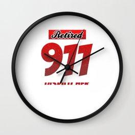 Retired 911 Dispatcher Emergency Worker Retirement  Wall Clock
