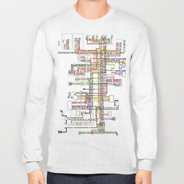 Colorful electric scheme Long Sleeve T-shirt