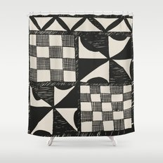 Tapa Cloth   Pacifica Patterns   Tribal Art Shower Curtain