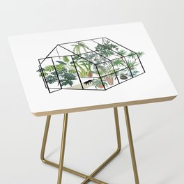 greenhouse with plants Side Table
