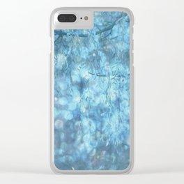 MYSTICAL BLUE WINTER Clear iPhone Case