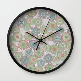 Doily Delight Crochet Watercolor Wall Clock