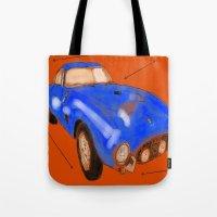 ferrari Tote Bags featuring Ferrari by Carlota Atlee