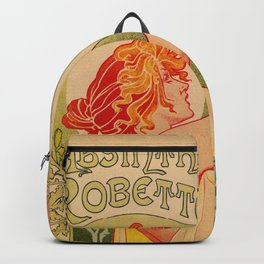 Classic French art nouveau Absinthe Robette Backpack
