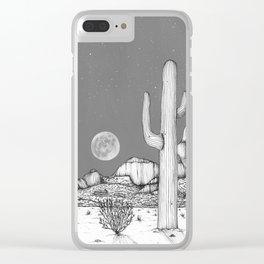 Desert Night Sky Clear iPhone Case