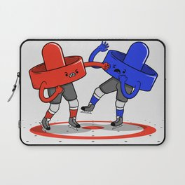Air Hockey Brawl Laptop Sleeve