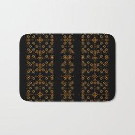 Dark Arabic Stripes Pattern Bath Mat