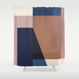 geometric abstract 45 Shower Curtain