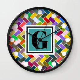 G Monogram Wall Clock