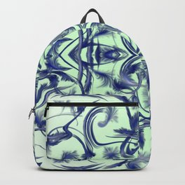 blue in blue Digital pattern with circles and fractals artfully colored design for house and fashion Backpack
