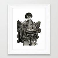 levi Framed Art Prints featuring Levi Ackerman by OtakuRuki