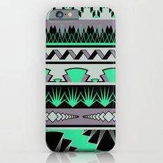 art deco stripes - green & pale purple Slim Case iPhone 6s