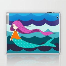 Mermaid in Blue Laptop & iPad Skin
