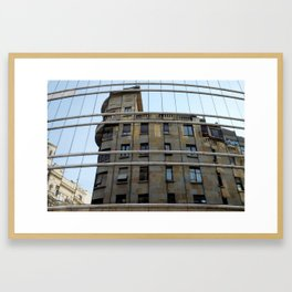 Belgrade / Reflections of Buildings on Buildings Framed Art Print