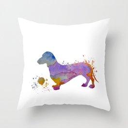 Dachshund art Throw Pillow