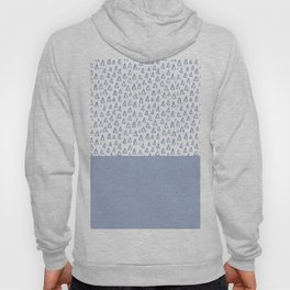 Triangles Light Blue Hoody