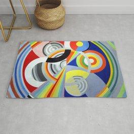 Robert Delaunay - Rythme no 1 - Rhythm no 1 - Abstract Colorful Art Rug
