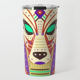 Symmetric Animals. WOLF Travel Mug
