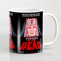tron Mugs featuring Tron of the dead by Gimetzco's Damaged Goods