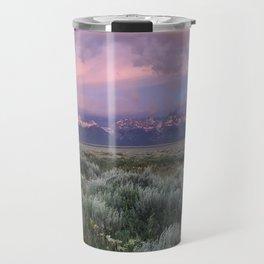 Teton Range Sunrise Travel Mug
