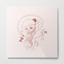 Clown And Rabbit Metal Print