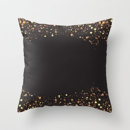 Black and gold #society6 Throw Pillow