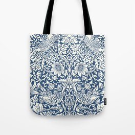 William Morris Navy Blue Botanical Pattern 4 Tote Bag
