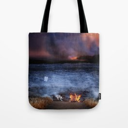 Kilauea Volcano Lava Flow. Tote Bag