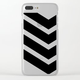 Black Chevron Clear iPhone Case
