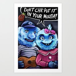 Oral Healthcare Puppets Art Print