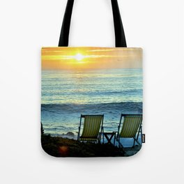 Modern Cambria CA Sunset Tote Bag