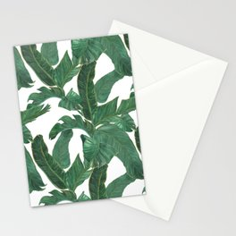 banana leaves pattern Stationery Cards
