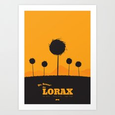 Dr. Seuss - The Lorax : Minimal poster Art Print