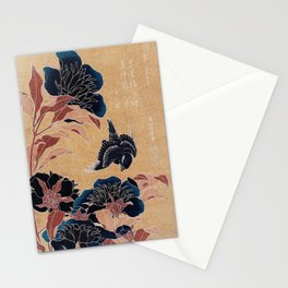 japanese flowers Stationery Cards