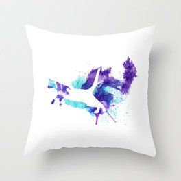 Watercolor Splat Cat Throw Pillow