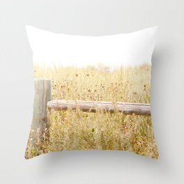 Travel photography Spring fence I Throw Pillow