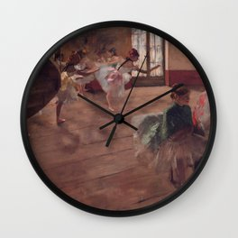 "Edgar Degas ""The Rehearsal"" Wall Clock"