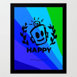International Day of HAPPINESS Art Print