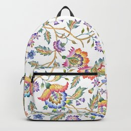 floral pattern white Backpack