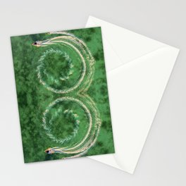 Circle ocean Stationery Cards