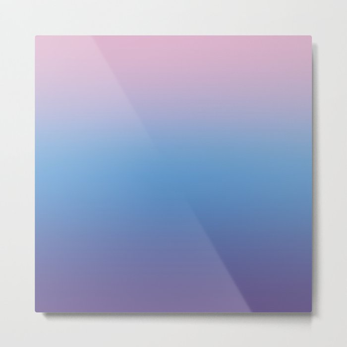 Ombre Pink Blue Ultra Violet Gradient Pattern Metal Print