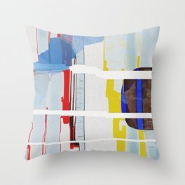 Shattered Waveform Throw Pillow