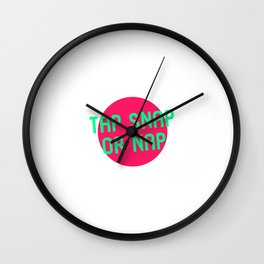 Tap Snap or Nap Black Belt Martial Arts BJJ MMA Lover Wall Clock