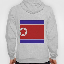 north korea flag Hoody
