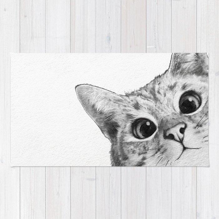 08d79364731 sneaky cat Rug by lauragraves