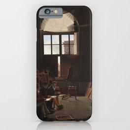 Léon Matthieu Cochereau - The Studio of Jacques-Louis David iPhone Case