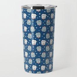 Baby Owl Pattern Travel Mug