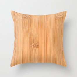 Cool elegant light brown bamboo wood print Throw Pillow